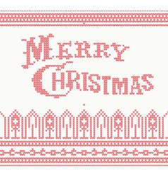 Merry Christmas Scandinavian text vector image