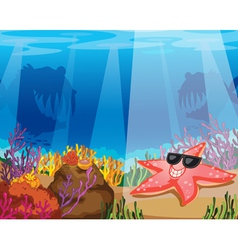 Under the Sea Background vector image