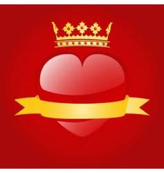 Valentine's heart vector image
