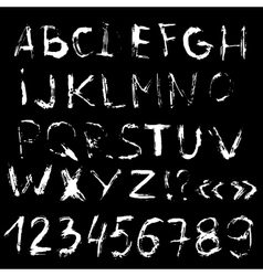 Alphabet letters handdrawn font Letters vector image vector image