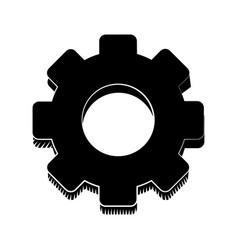 gear engineer work cooperation pictogram vector image