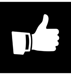 White Thumb Up Icon vector image vector image