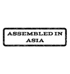 assembled in asia watermark stamp vector image vector image