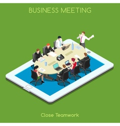 Business 02 people isometric vector