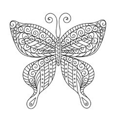 Coloring book for adult and older children page vector image