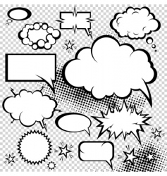 comic bubbles collection vector image vector image