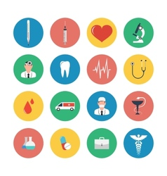Flat icons set of medical equipment vector image vector image
