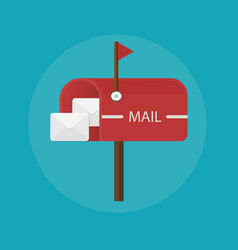 Mail box post icon Flat design vector image