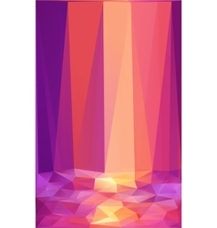 Pink and orange triangles abstract poster vector image vector image