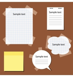 Set of paper stickers vector image vector image