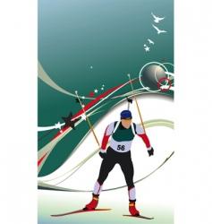 ski biathlon vector image vector image