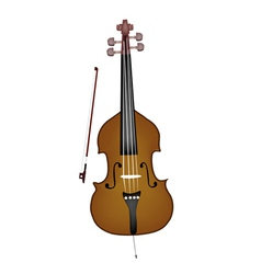 A Beautiful Double Bass on White Background vector image