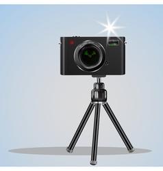 Abstract digital photo camera on small tripod vector