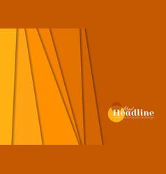 Abstract orange tech corporate brochure background vector