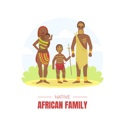 African family banner template young man woman vector