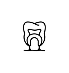 Anatomy canal root tooth diagram blood bone icon vector