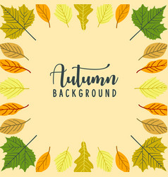 autumn frame background for advertisement vector image
