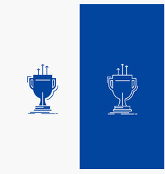 award competitive cup edge prize line and glyph vector image