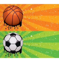 basketball and soccer backgrounds vector image