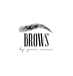 beautiful hand drawing eyebrows for the vector image