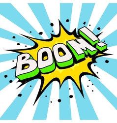 Boom Comic Speech Bubble Cartoon vector image