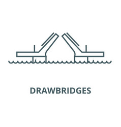 Bridgesdrawbridges line icon bridges vector