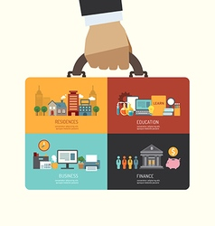 Business investment concept infographic vector