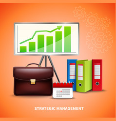 Business realistic concept vector