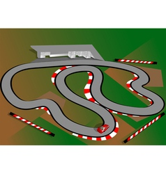Car test track vector