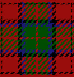 clan macduff tartan plaid seamless pattern vector image