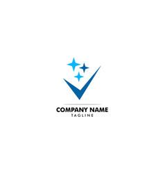 clean check logo designs concept vector image
