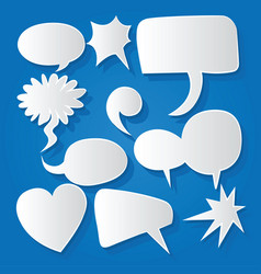 Comic bubble speech balloons speech cartoon 202 vector