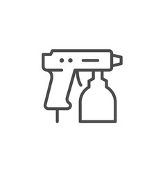 Compressor paint gun line outline icon vector