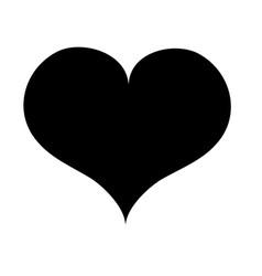 contour art heart love icon design vector image