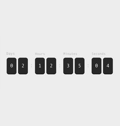 Countdown black hour and minute counter with vector