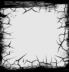 cracks grunge square shape vector image