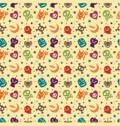 cute halloween pattern background vector image