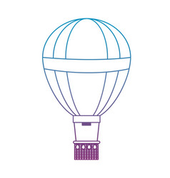 Degraded line funny air balloon cute entertainment vector