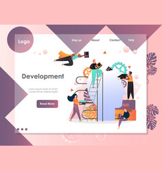 development website landing page design vector image