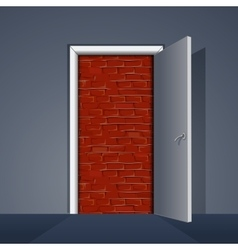 Door to Brick Wall vector