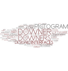 Downers word cloud concept vector