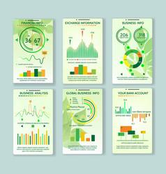 Ecology app mobile dashboard vector