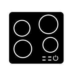 Electric induction hob glyph icon vector