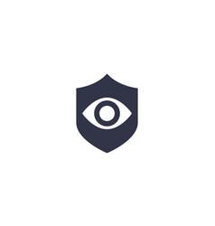 eye and shield icon vector image