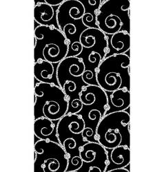 Floral silver wallpaper vector