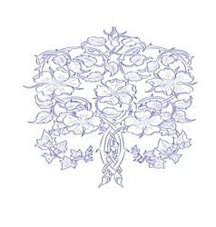 Flower with ivy vector