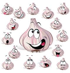 Garlic cartoon vector