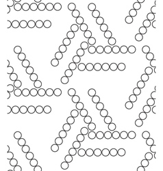 Geometric seamless pattern modern circle texture vector