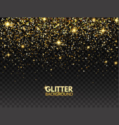 Glitter background gold glitter particles effect vector