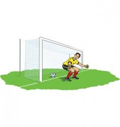Goalkeeper bypassed vector
